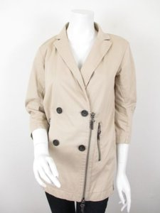 Gap Tan Moto Asymmetrical Zipper 100 Jacket Pea Coat