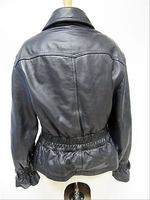 Other Womens Colebrook Co Pebbled Zipper Belted Coat Motorcycle Jacket