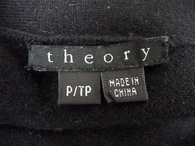 Theory Womens Wool Blend Side Tie Neck P Sweater