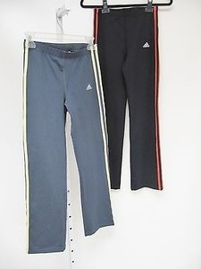 adidas Womens Adidas Gray Black Elastic Waist Active Workout Pants
