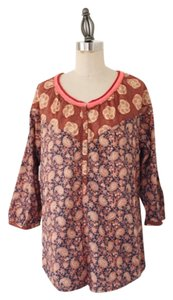 Maison Scotch Paisley Print Top Multi Color