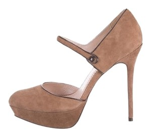 Jean-Michel Cazabat New Italian Designer Suede Tan Pumps