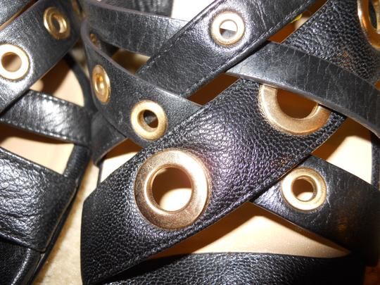Cole Haan Leather Wedge Studded black Sandals