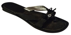Guess Rhinestone Heart Black Sandals