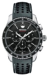 Movado MOVADO 800 SERIES 42 MM MENS CHRONO SWISS QUARTZ LEATHER STRAP WATCH