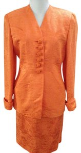 Dior Dior Orange 2 pc Silky Suit, Buttons Silky Cord, Sz 4