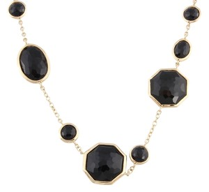 Ippolita Ippolita Gold and Onyx Crazy 8's Necklace