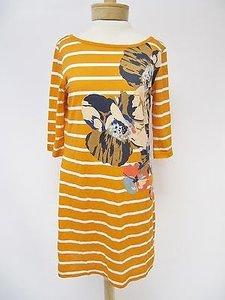 French Connection Womens White Stripe Print 34 Sleeve Dress
