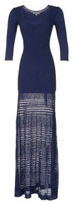 Blue Maxi Dress by Zac Posen Maxi Knit Crochet