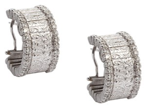 Roberto Coin **RETURN TO CONSIGNOR** Roberto Coin Diamond Florentine Hoops