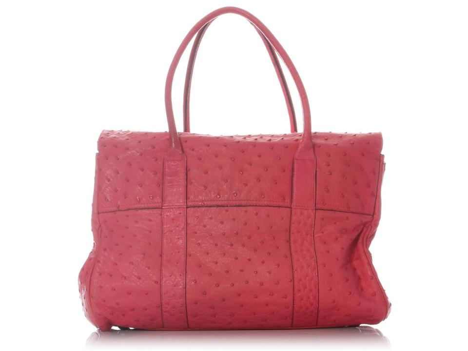 d5e5ea43622b Mulberry Bayswater Lipstick Pink Ostrich Leather Satchel - Tradesy
