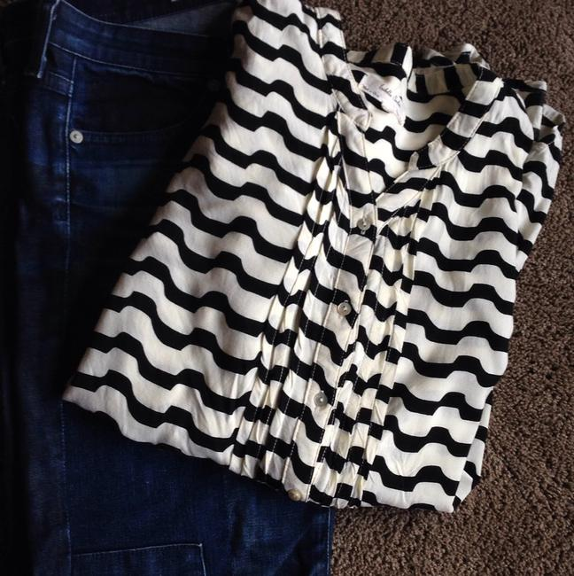 Item - Patchwork Blue Black and White From Anthropologie Ankle Length Straight Leg Jeans Size 28 (4, S)