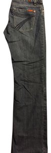 7 For All Mankind Denim 7pockets Darkwashdenim Designer Straight Leg Jeans-Dark Rinse