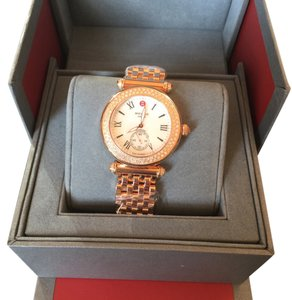 Michele Michele MWW16A000044 Caber Ladies MOP Dial Rose Gold Plated Case Quartz Movement Watch