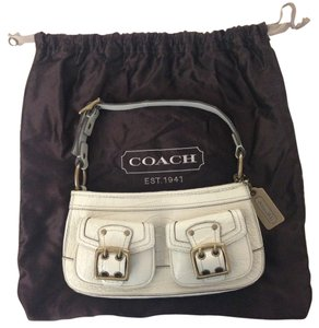 Coach Croc Croco Crocodile White Embossed Hobo Bag