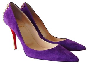 Christian Louboutin Purple / Gold Pumps