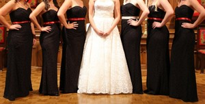David's Bridal Black W10329 Dress