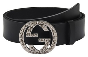 Gucci GUCCI NWT LEATHER STUDDED 'GG' BELT (SIZE 80/32)