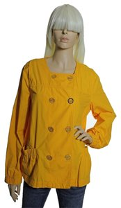 Michael Kors 100% Cotton Double-breasted Yellow Jacket