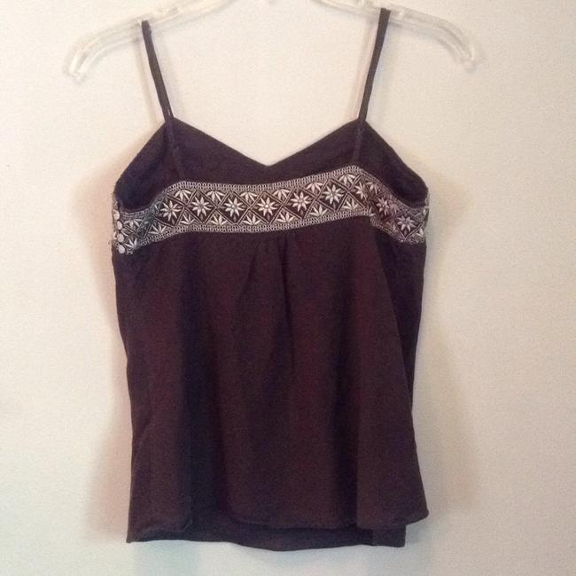 Abercrombie & Fitch Top Brown with cream accents