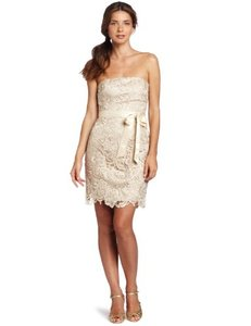 Adrianna Papell Champagne 041846670 Dress