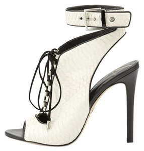 B Brian Atwood White Snake Boots