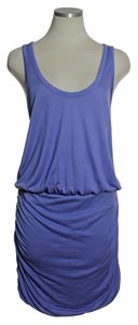Joie short dress Purple Jersey Stretch Racerback Ruched Blouson on Tradesy