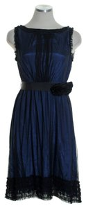 Moulinette Soeurs Tulle Tie Waist Mesh Sleeveless Dress