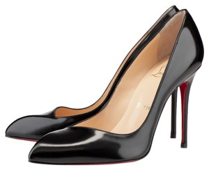 Christian Louboutin 100mm Corneille Asymmetrical Calf Leather 4in Louboutins Stiletto 100 Mm Red Sole Decollete Black Pumps