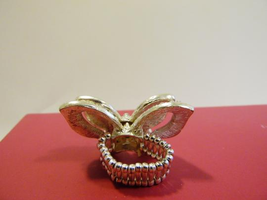 Other Double Butterfly Crystal Stretch Ring fits Approx. Size 8 to 10