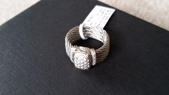 Charriol SALE!!!! ALOR/Charriol Silver Cable and white sapphire ring