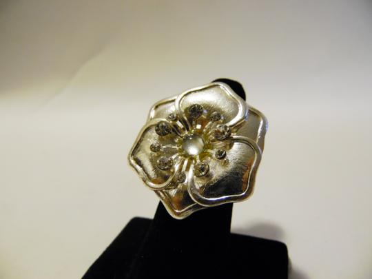 Other Flower Crystal Stretch Ring Size 8