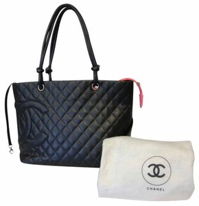 Chanel Caviar Coco Lambskin Leather Shoulder Bag