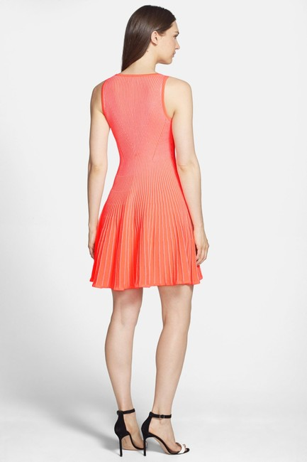 MILLY short dress Coral (Neon) on Tradesy