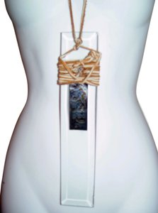AgaTha CouTure Crystal & Leather Necklace/Choker/Belt, 3 items in 1, Hand Made Couture by AgaTha