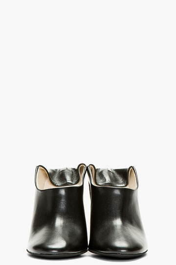 Stella McCartney Wooden-heel Convertible-mule Black Pumps