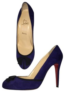 Christian Louboutin Royal Blue Suede Pumps