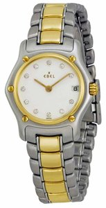 Ebel EBEL 1911 Classic Stainless Steel and 18 karat Yellow Gold Ladies Watch, Diamond Dial.