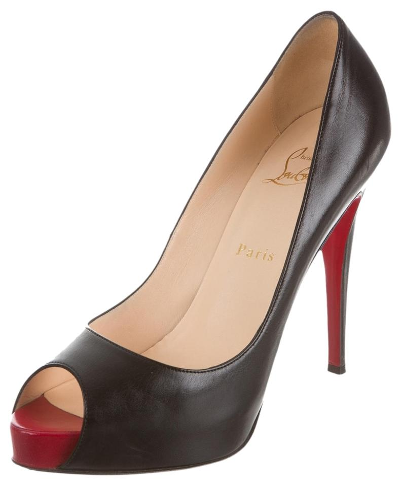 christian louboutin pvc pointed-toe pumps
