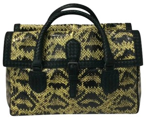 Bottega Veneta Satchel in Black Yellow