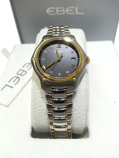 Preload https://item4.tradesy.com/images/ebel-stainless-steel18k-yellow-goldblack-dial-1087221-and-18-karat-with-diamonds-watch-6563773-0-0.jpg?width=440&height=440