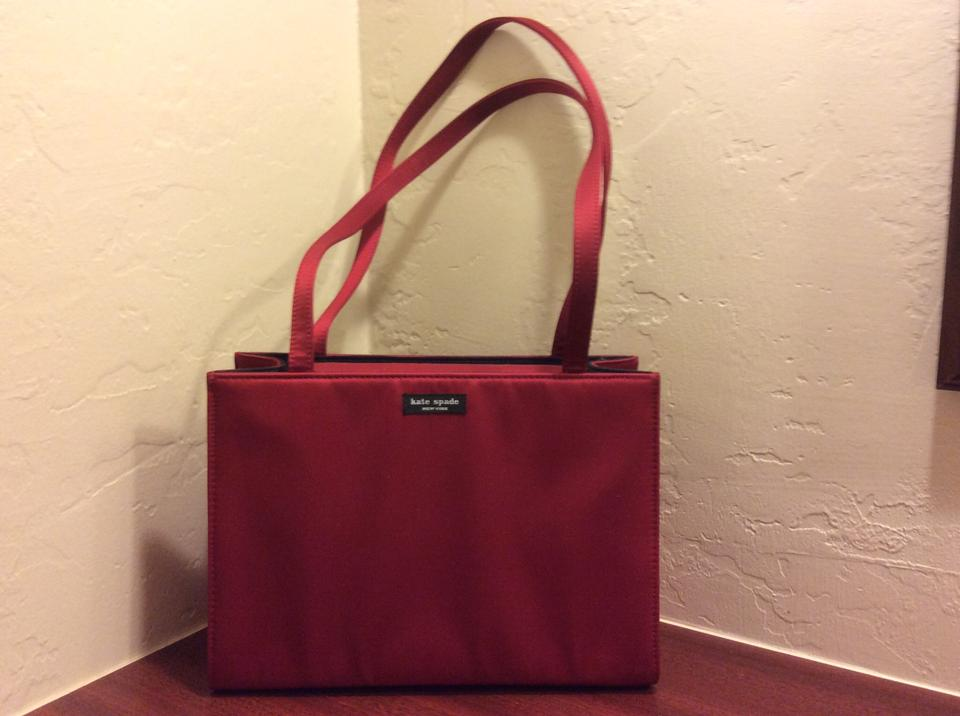 Kate Spade Black Or Red Classic Satin Perfect Condition Shoulder Bag Tradesy