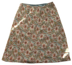 Gap Floral Skirt Teal Floral