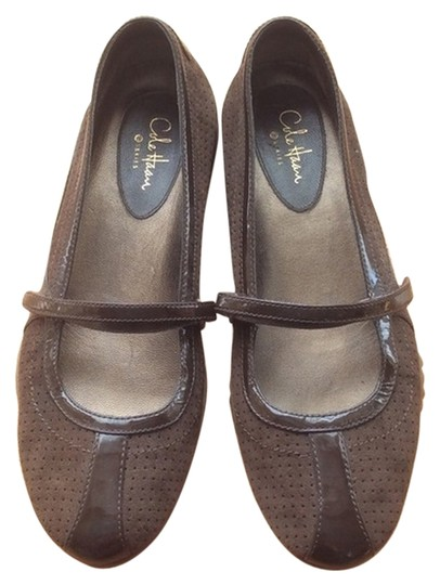 Cole Haan Patent Brown Leather Flats