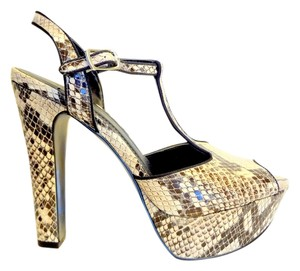 BCBGeneration Snake Sandals Club Ultra High High Heel multi snake Platforms