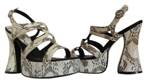 Classified Vintage Snakeskin Chunky Sandals Platforms