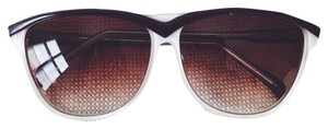 American Apparel Brown and White Vogue Sunglasses