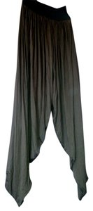J A3 Jeanie Yoga Stretch Soft Flowing Elastic Waistband Yoga Dance Stage New J O B Job Baggy Pants Hunter Olive Green