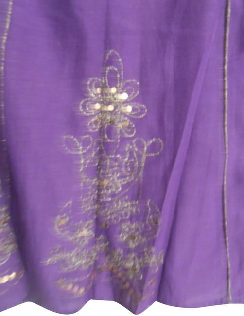 Item - Deep Purple and Gold Trim Vintage With Skirt Size 16 (XL, Plus 0x)