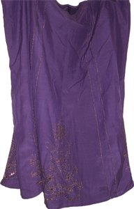AKS Vintage Embellished Skirt Purple and Gold trim